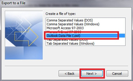 Collaboration Services: Migrate Mail Folders in Outlook 2010