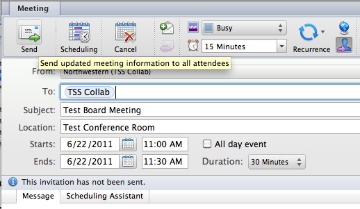 Collaboration Services Adding Appointments And Meetings In Outlook