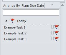The Tasks in the To-Do bar. A Task may be double-clicked to view and edit it.