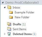The newly-created folder under the Inbox.