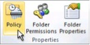 The Policy button on the Folder tab.