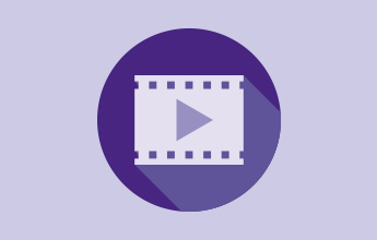 illustration of film strip with play button