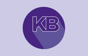 "illustration of the letters ""k"" and ""b"" in a circle"