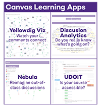 Graphic image of the four digital learning apps