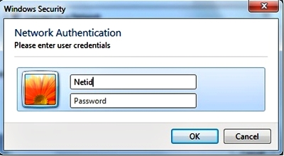 Enter/select additional logon information