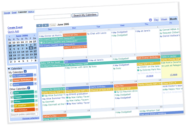 Screenshot of an @u.northwestern.edu calendar